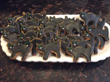 ghosts and black cats Halloween pastry Cookies