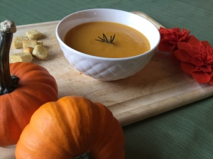 Orange buttenut squash soup