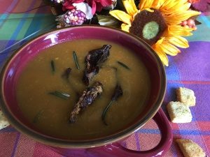 butternut squash and porcini mushrooms soup