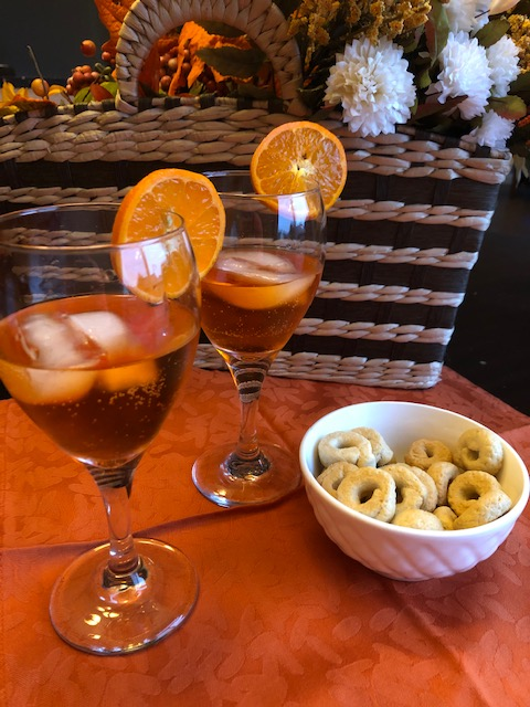 Italian Spritz Cocktail made with Aperol