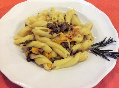 Butternut squash and porcini pasta